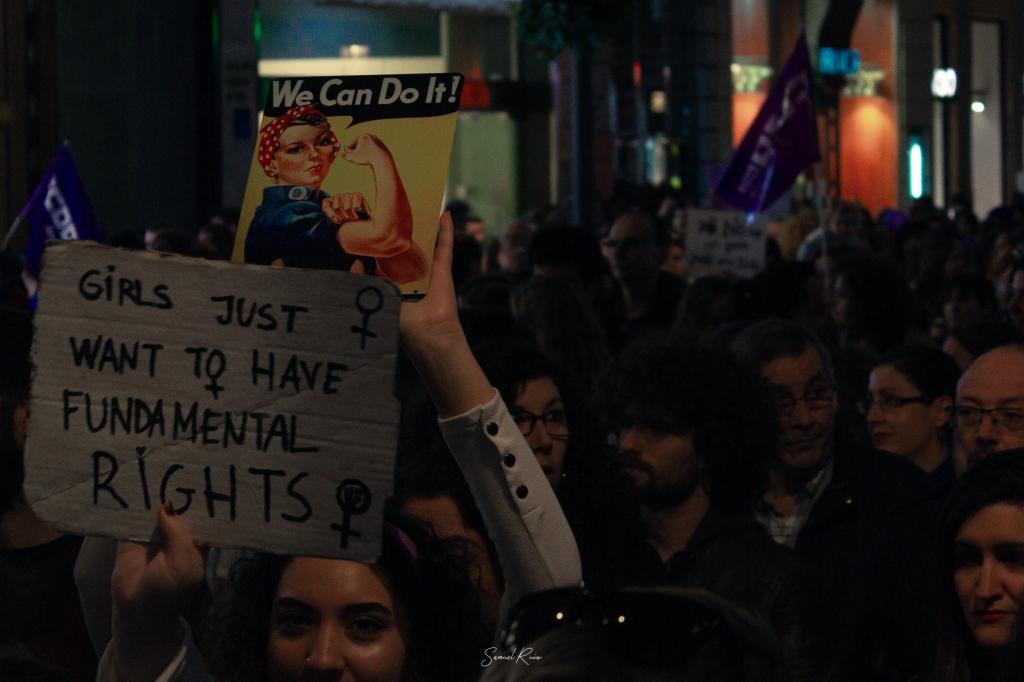 Manifestación feminista del 25 de noviembre de 2018 en Málaga. (Foto: Samuel Ruiz)