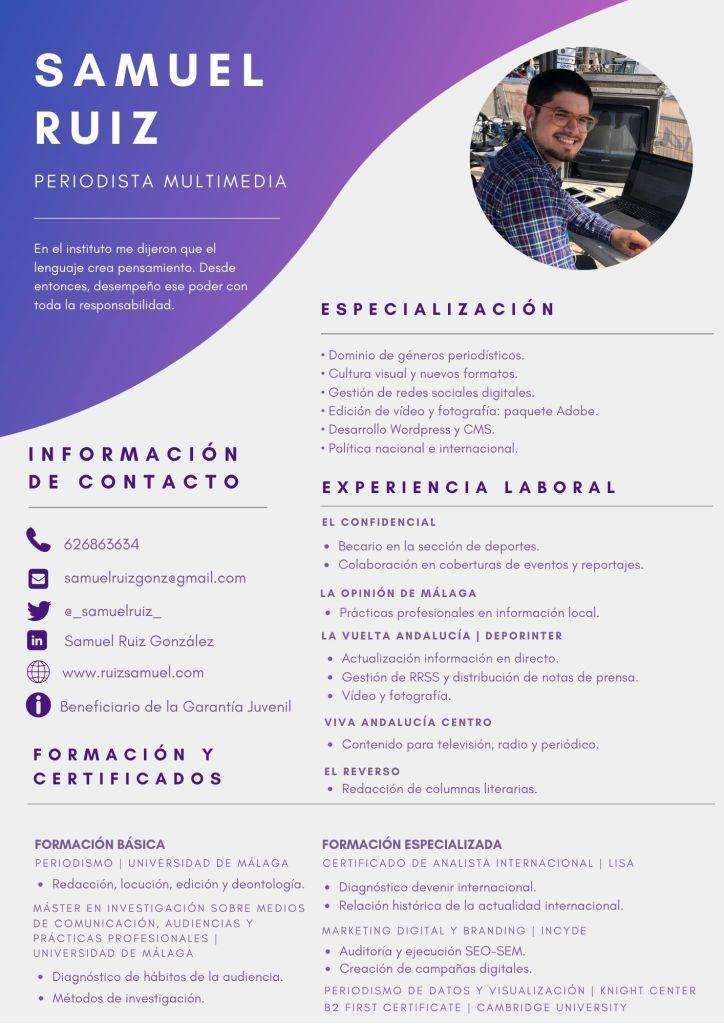 Samuel Ruiz González CV Currículo Currículum Samuel Ruiz
